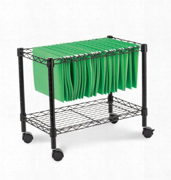 Single Tier Rolling File Cart By Alera