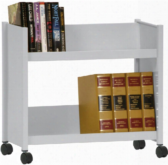 Sloped Shelf Booktruck By Sandusky Lee