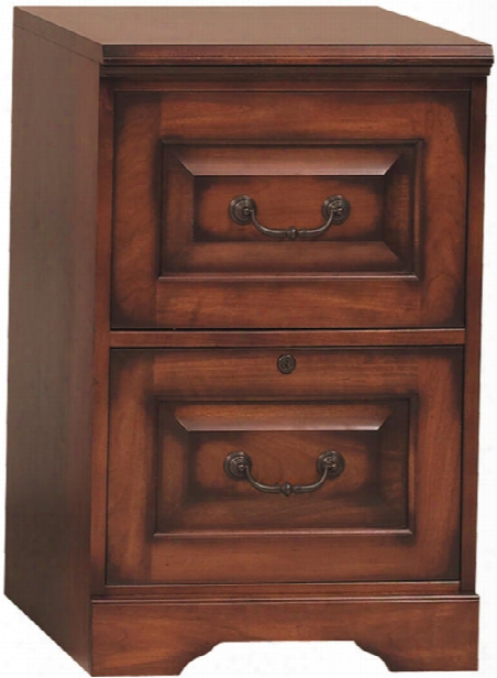 Solid Wood 2 Drawer Vertical File By Wilshire Furniture