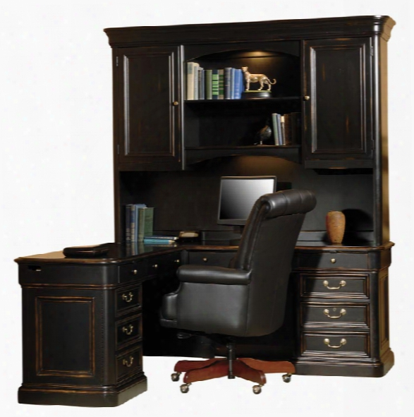 Solid Wood L Shaped Desk With Hutch By Hskman Furniture