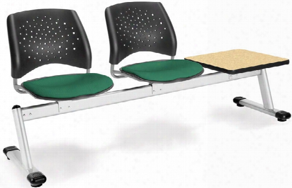 Stars 2 Seat Bench With Table By Ofm