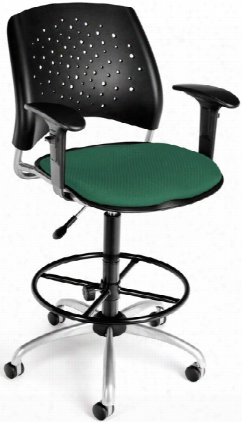 Stars Drafting Stool With Arms By Ofm