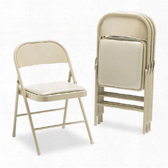 Steel Folding Chair With Padded Seat By Hon
