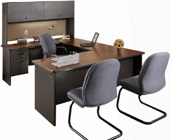 Steel U Shaped Desk With Hutch By Marvel