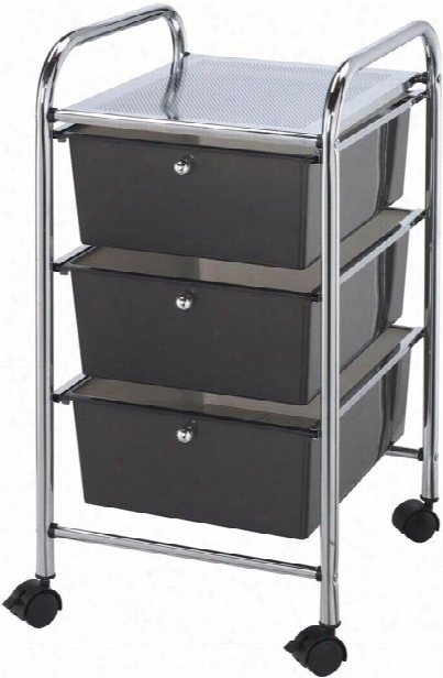 Three Drawer Storage Cart By Alvin