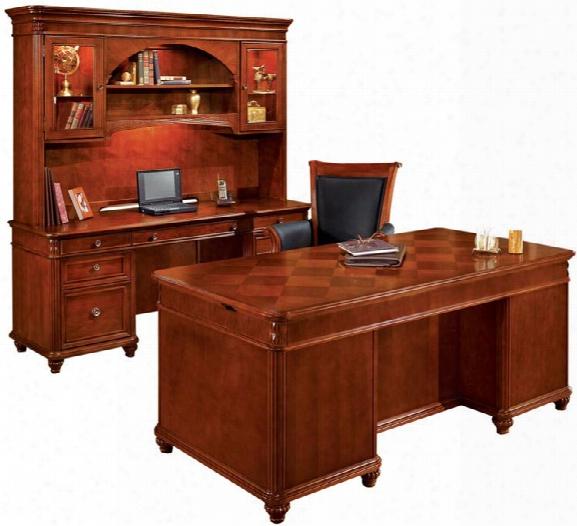 Three Piece Executive Desk Set By Dmi Office Furniture