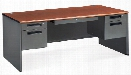 "72"" Double Pedestal Executive Steel Desk by OFM"