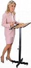 Adjustable Height Lectern by Oklahoma Sound
