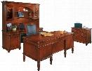 Four Piece Executive Desk Set by DMI Office Furniture