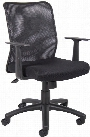 Mesh Back Task Chair with Arms by BOSS Office Chairs