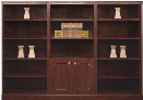 Traditional Style Triple Wide Bookcase by High Point Furniture