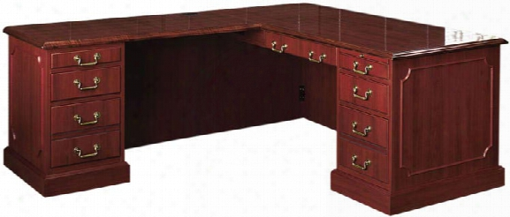 Traditional L Shaped Desk In The Name Of High Point Furniture
