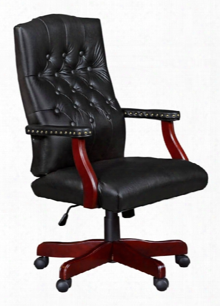 Traditional Vinyl Swivel Chair By Regency Furniture