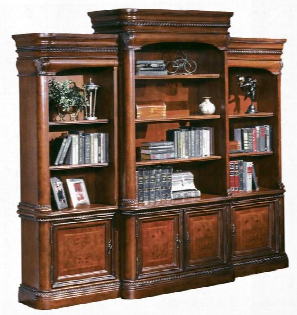 Triple Wide Bookcase By Aspen Home