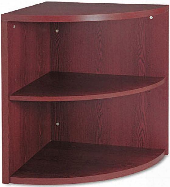 Two Shelf End Cap Bookcase By Hon