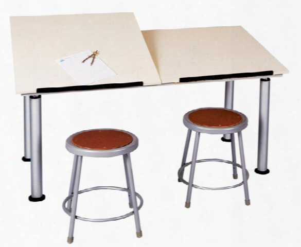 Two Station Adaptable Drawing Table By Shain Solutions