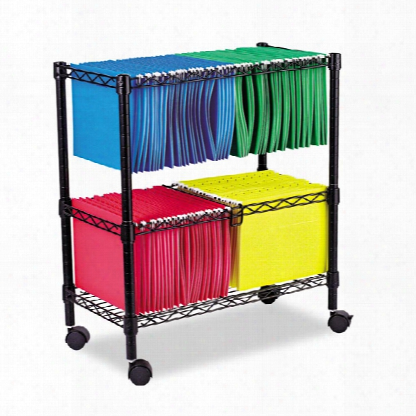 Two Tier Rolling File Cart By Alera