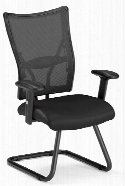Ultimat Eleather Guest Mesh Chair By Ofm