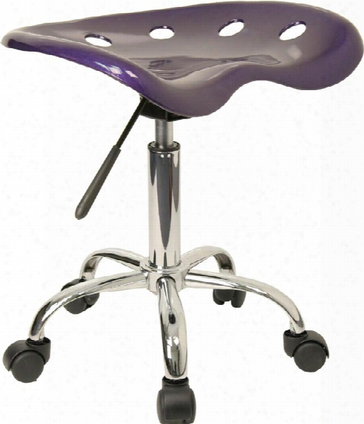 Vibrant Violet Tractor Seat And Chrome Stool By Innovations Office Furniture