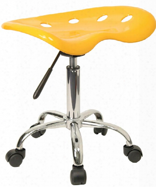 Vibrant Yellow Tractor Seat And Chrome Stool In Proportion To Innovations Office Furniture