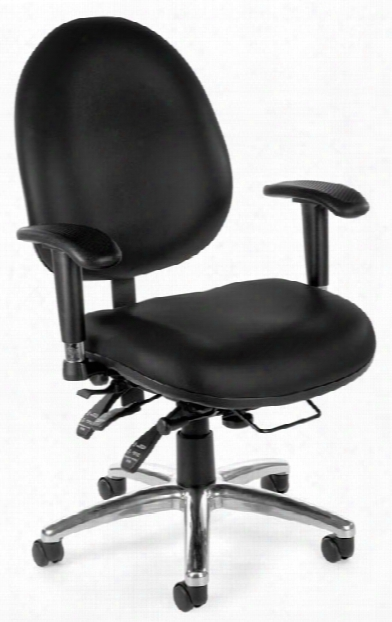 Vinyl 24 Hour Computer Task Chair By Ofm