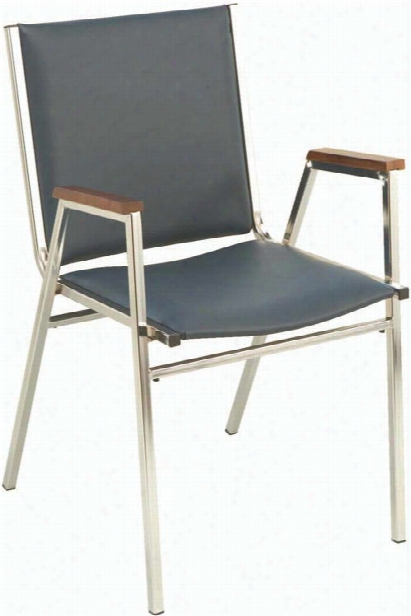 Vinyl Stack Chair With Arms And Chrome Frame By Kfi Seating