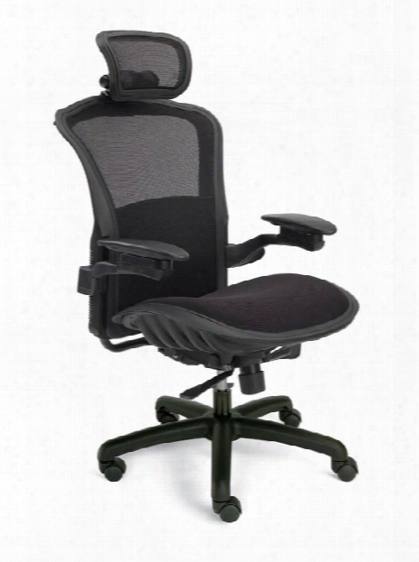 Viper Mesh Back Task Chair With Headrest By Dauphin