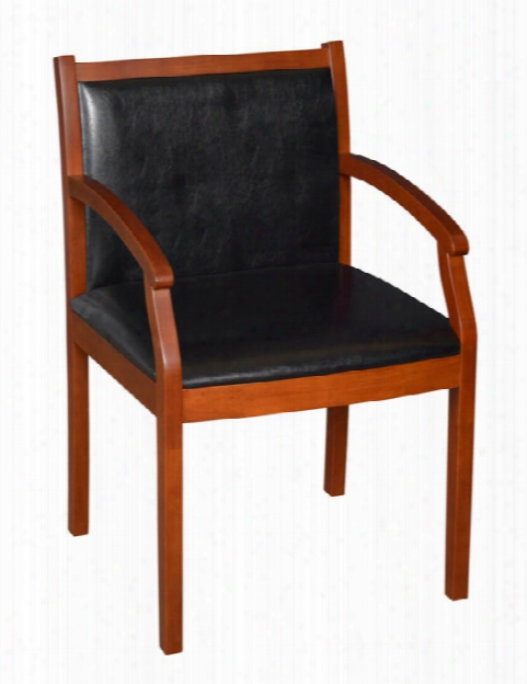 Wood And Vinyl Side Chair By Regency Furniture