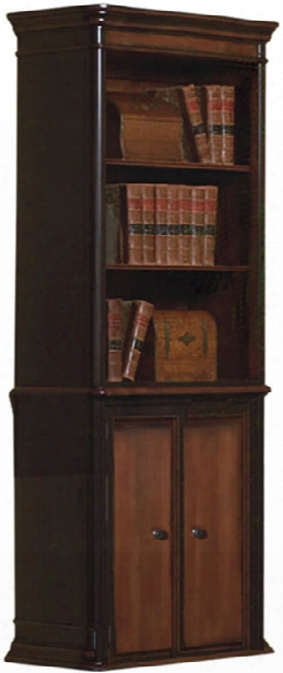 Wood Bookcase With Doors By Coaster Furniture