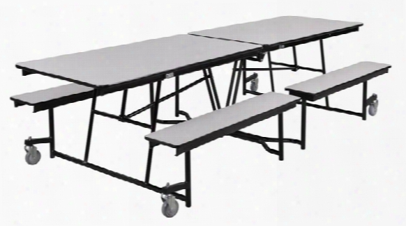 12' Table With Bench Seating By National Public Seating