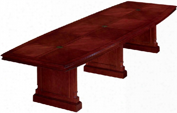 14' Boat Shaped Conference Table By Dmi Office Furniture