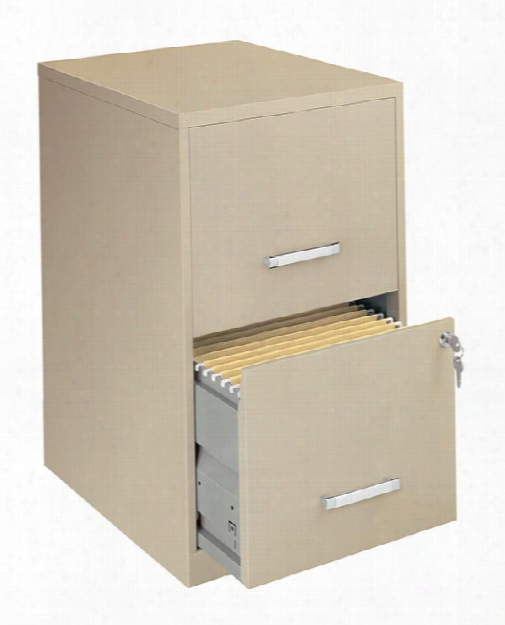 """2 Drawer Letter Size Vertical File Cabinet - 18""""d By Hirsh Industries"""