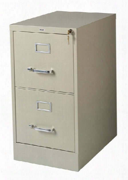 """2 Drawer Letter Size Vertical File Cabinet - 22""""d By Hirsh Industries"""