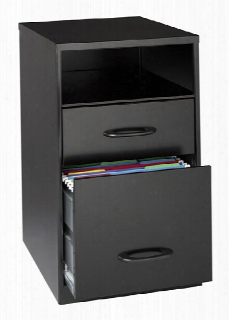 2 Drawer Letter Size Vertical File Cabinet With Shelf By Hirsh Industries