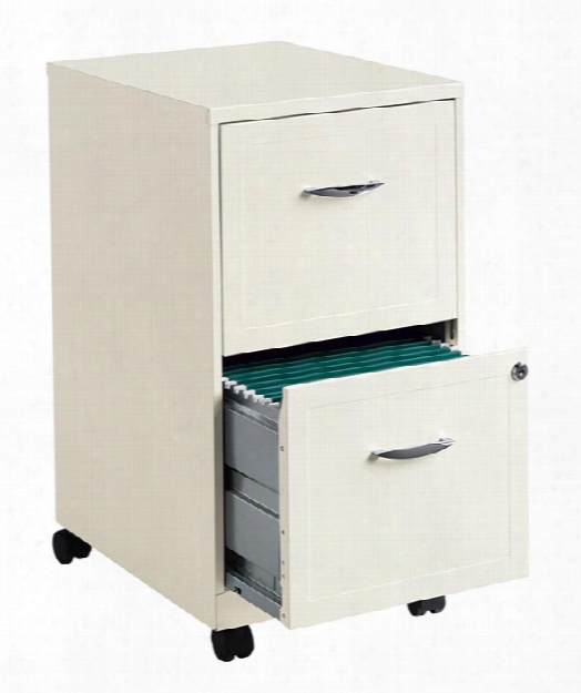 2 Drawer Mobile File Cabinet By Hirsh Industries