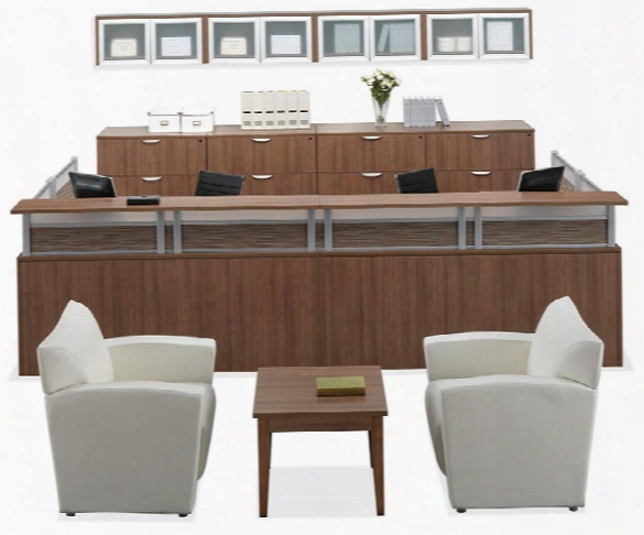 2 Person Reception Workstation By Office Source