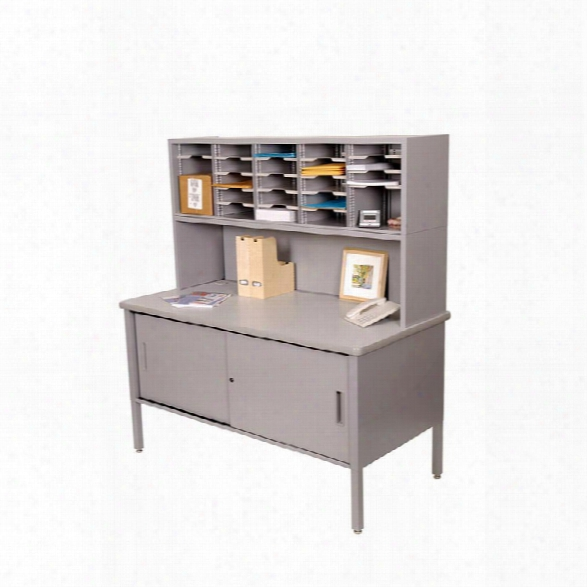 25 Adjustable Slot Literature Organizer With Riser And Cabinet By Marvel