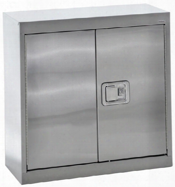 "30""w X 12""d X 30""h Stainless Steel Storage Cabinet By Sandusky Lee"