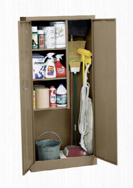 "30""w X 15""d X 66""h Janitorial Supply Cabinet By Sandusky Lee"