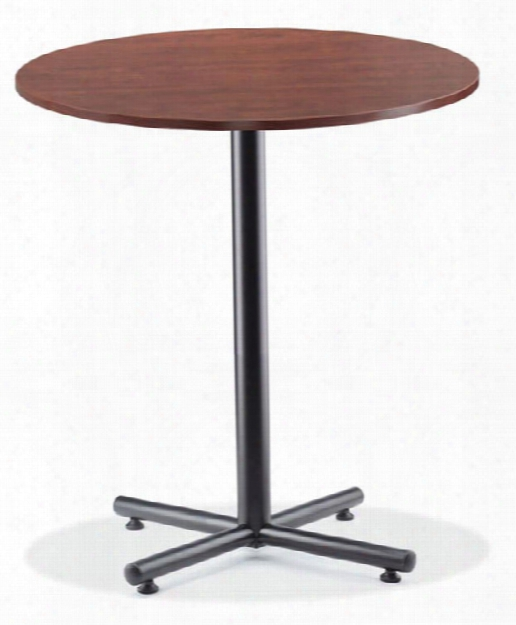 """36"""" Round Cafeteria Table With Black Base By Office Source"""