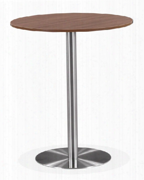 "36"" Round Cafeteria Table With Brushed Aluminum Base By Office Source"