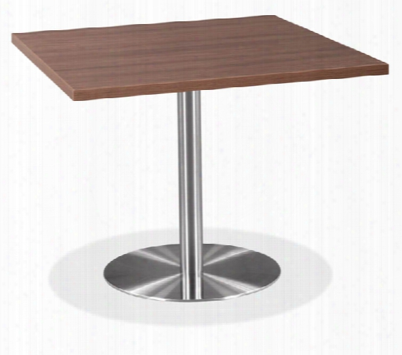 "36"" Square Cafeteria Table With Brushed Aluminum Base By Office Source"