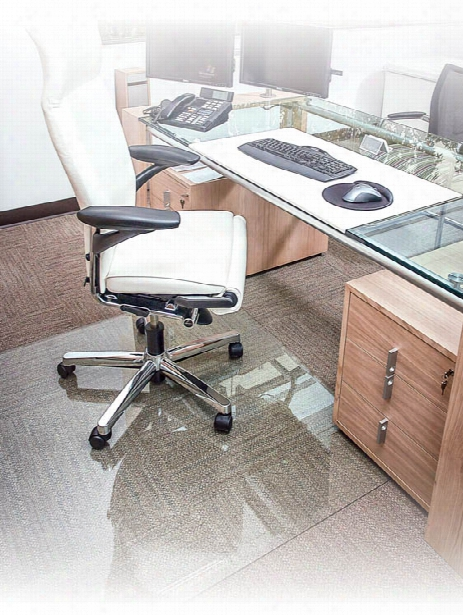 """36"""" X 46"""" Glass Chairmat By Office Source"""