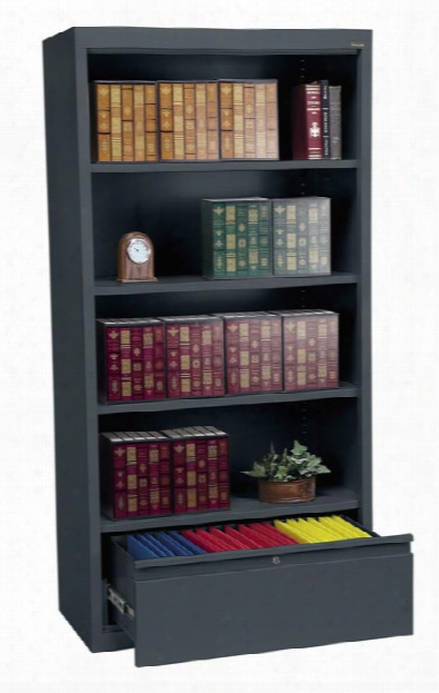 """36""""w X 18""""d X 72""""h Bookcase With File Drawer By Sandusky Lee"""