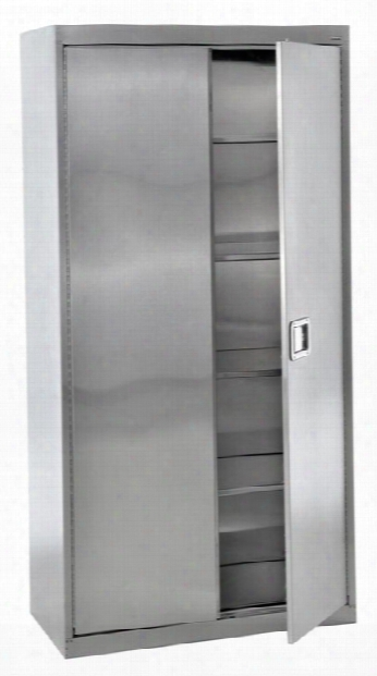 "36""w X 18""d X 72""h Stainless Steel Storage Cabinet By Sandusky Lee"