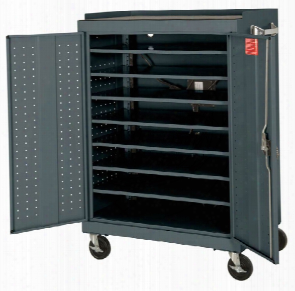 """36""""w X 24""""d X 52""""h Mobile Laptop Security Cabinet With Power Charge System By Sandusky Lee"""