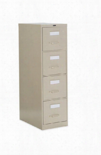 "4 Drawer Letter Size Vertical File - 25""d By Global"