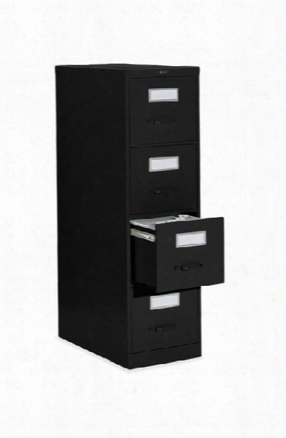 """4 Drawer Letter Size Vertical File - 26-1/2""""d By Global"""