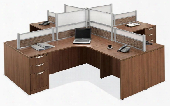 4 Person Workstation By Office Source