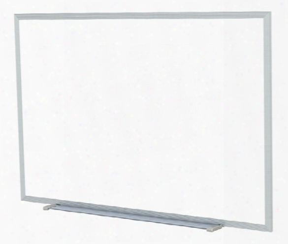 4' X 4' Aluminum Frame Painted Steel Magnetic Whiteboard By Ghent
